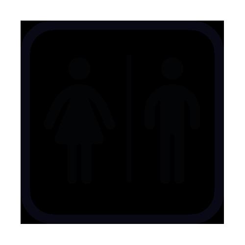 Kleefletters online stickers toilet